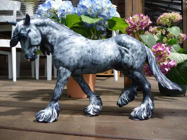 Steel Blue Dappled Decorator Drafter Stallion