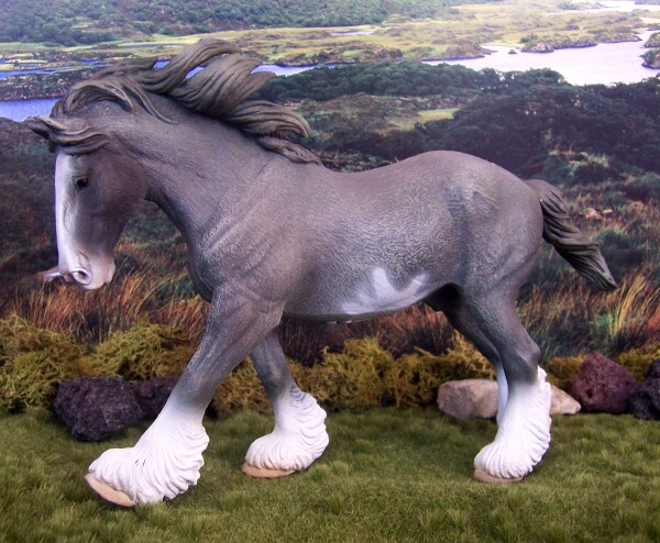 Rickenbach Tippsy Katapult - Blue Roan Sabino, Shire, Stallion, OF CollectA