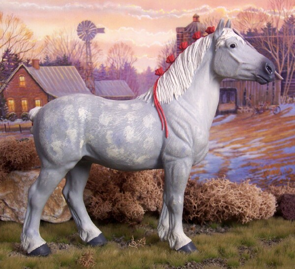 Overton's Holdup - Dapple Grey, Percheron, Stallion, Of Safari Ltd.